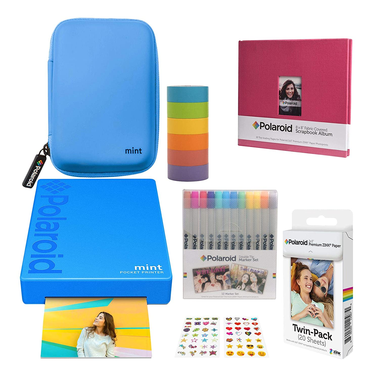 Polaroid Mint Impresora de Bolsillo Inalámbrica (Azul) Álbum de ...