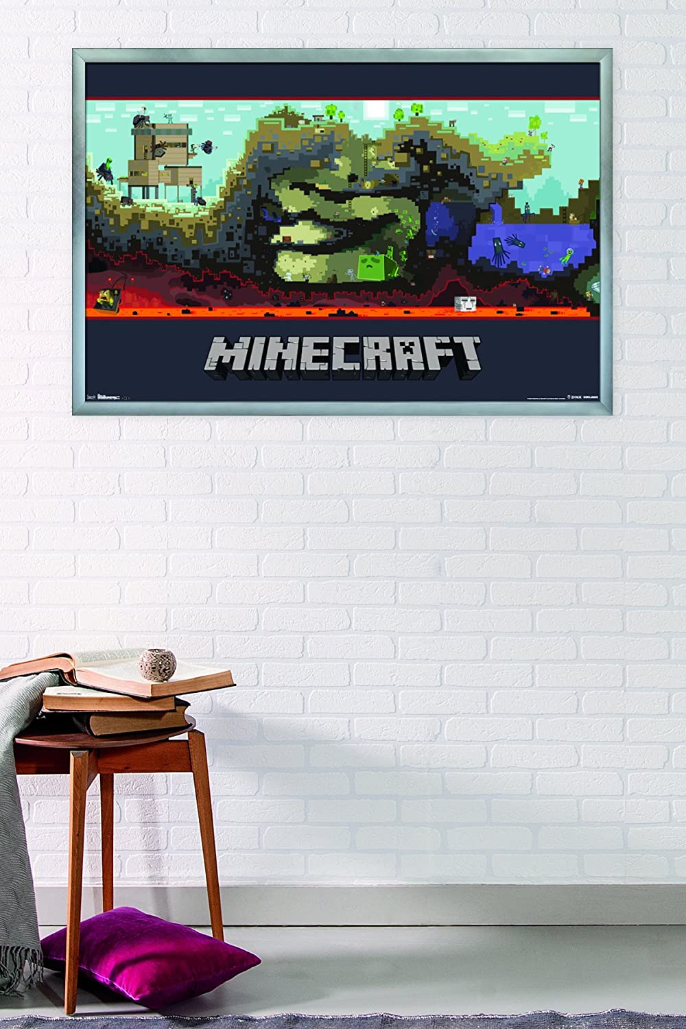 Amazon.com: Trends International Minecraft World Wall Poster 22.375 ...