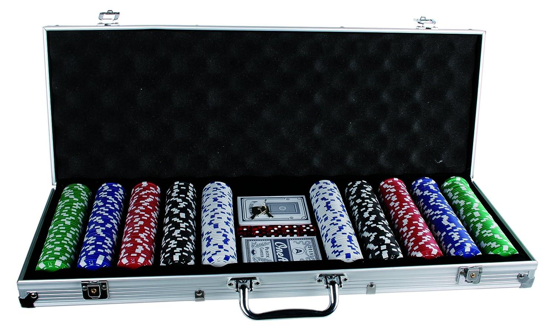 Out of the blue 79//3982 2 Kartenspielen und 500 Chips 11.5 g Pokerset im Alukoffer mit 5 W/ürfeln