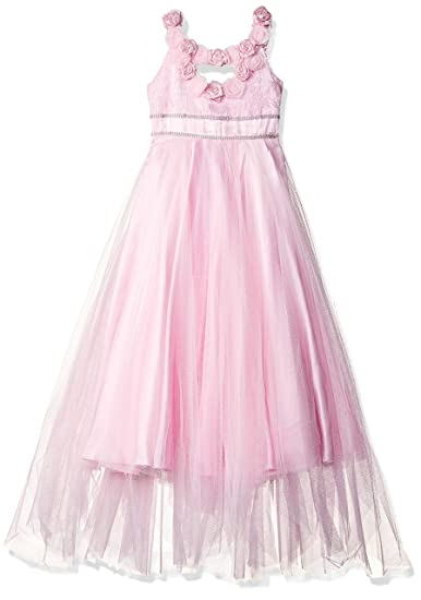 98b387b102e63e Si Rosa by Hopscotch Girl s Cotton and Polyester Applique Sleeveless Dress  (SRS-1688215