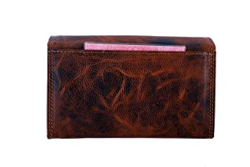 e7ef7a8ee08fb8 Geldbörse für Damen Echt-Leder, Großer Geldbeutel mit RFID Schutz, XL  Portemonnaie in