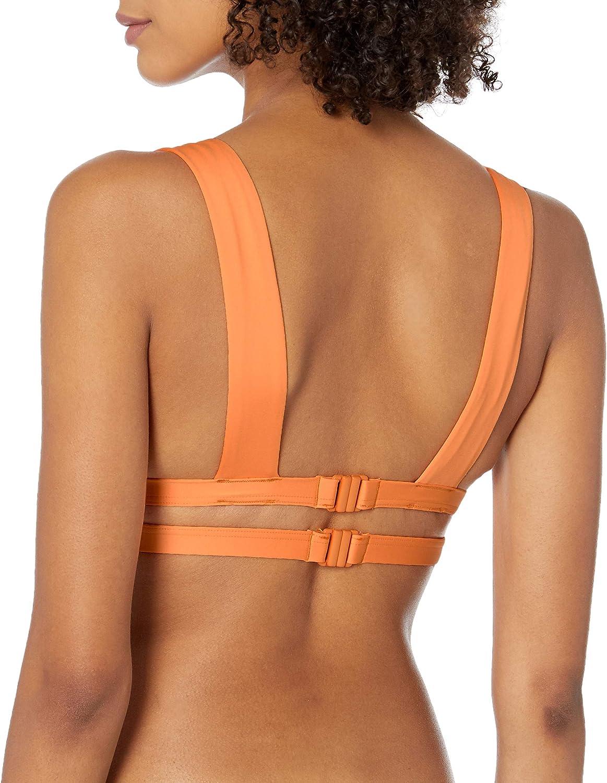 Seafolly Damen Banded Longline Triangle Bikini Top Swimsuit Bikinioberteil