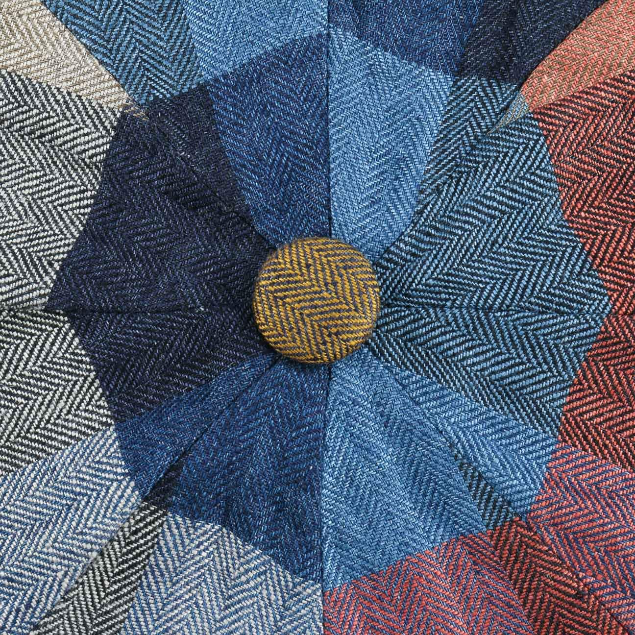 Visera Primavera//Verano Stetson Gorra Hatteras Linen Check Hombre Made in The EU Gorro Ivy de Lino Verano con Forro