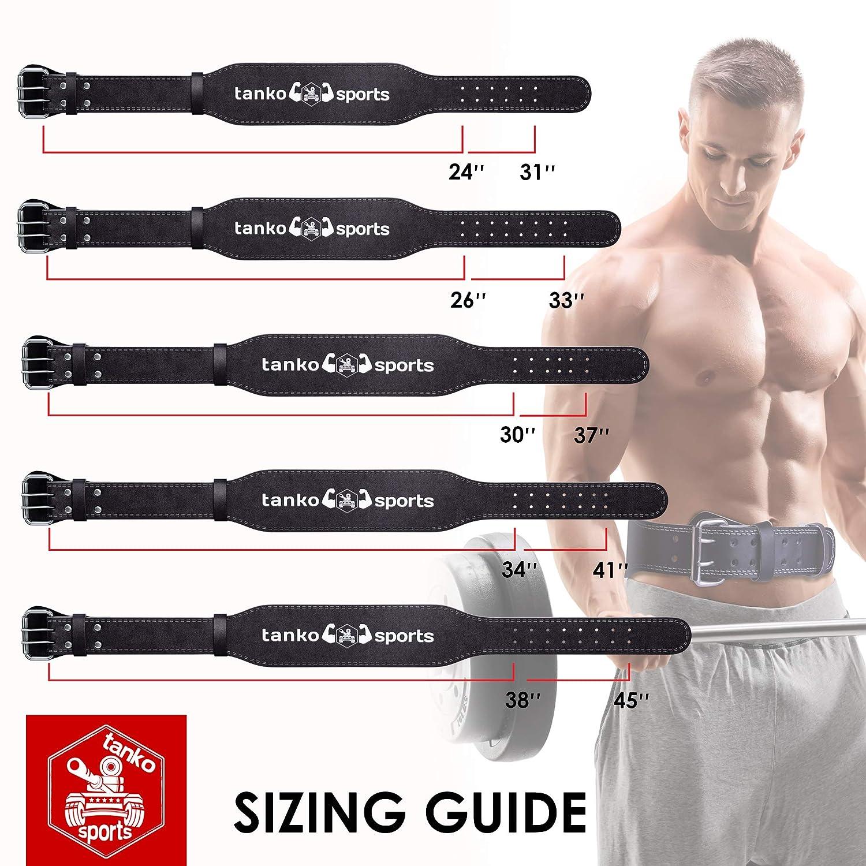 Amazon.com : Tanko Sports Weightlifting Deadlift Belt for Men & Women - Great Squat Belt for Crossfit and Powerlifting + Bonus Lifting Straps : Sports & ...
