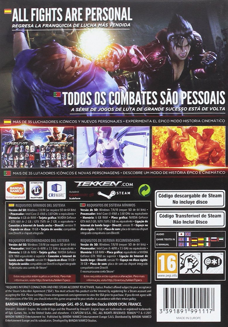 Tekken 7 - Standard Edition: PC: Amazon.es: Videojuegos