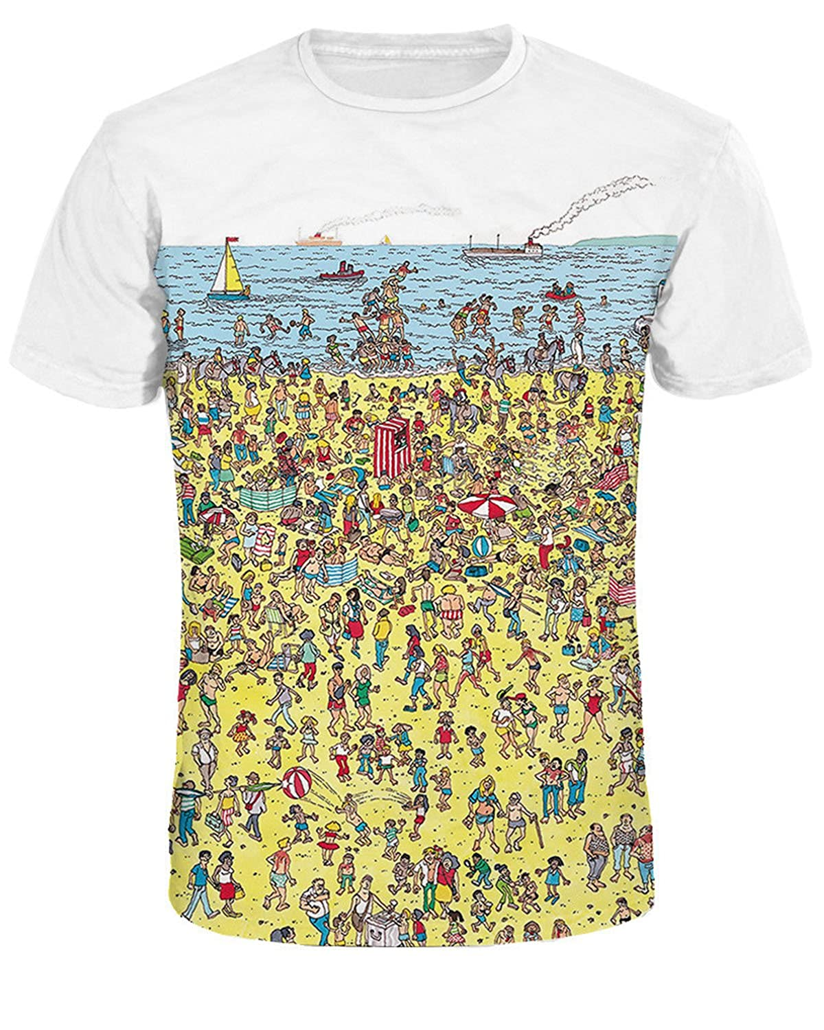 F Style Men 3d Printed Short Sleeve Casual T Shirt Galaxy Space