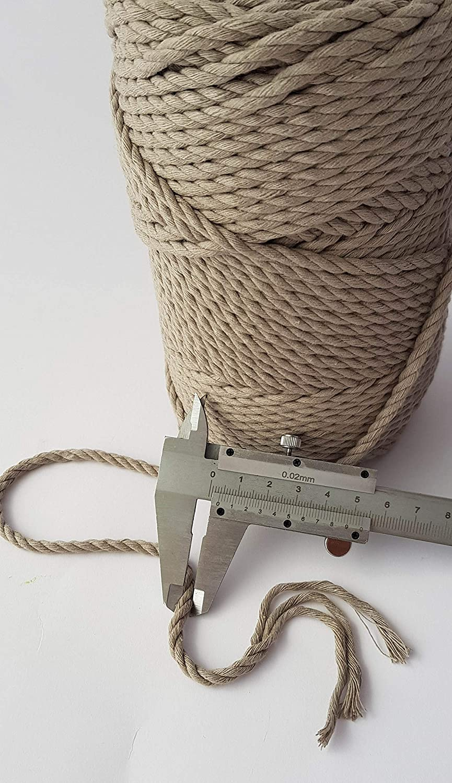 Grigio Macrame cavo 4 mm 100 metri cotone cavo 0,4 cm Macrame corda di 100 m DIY Craft corda corda Plant Hanger appendiabiti da parete corda corda Dark Gray