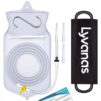 Lyvanas Einlauf Set Zur Darmreinigung (BPA- Und Phthalatfrei) - 2 Liter Klistier Set In Vollausstattung Für Alle Einläufe - P
