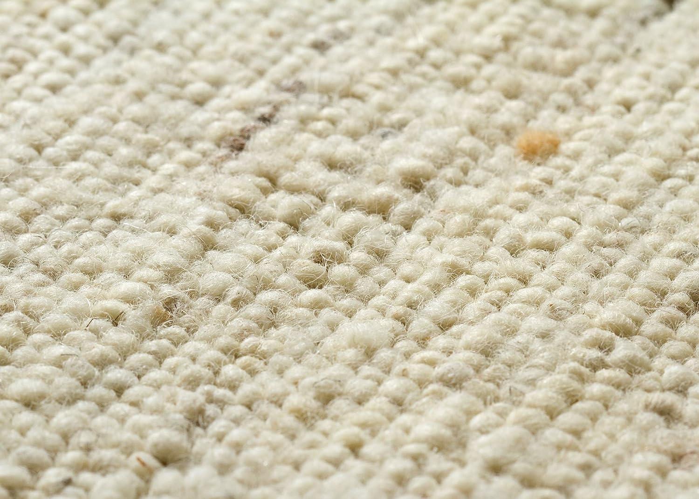 Landshut Handweb Teppich aus aus aus 100% Schurwolle - natur hell, Größe  90x160 cm B009VIJFUS Teppiche 2ac86e