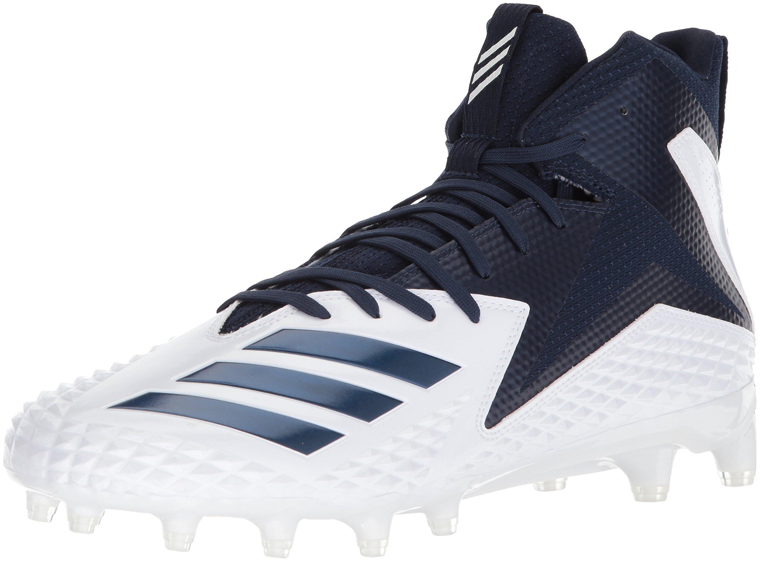 adidas Men's Freak X Carbon Mid Football Shoe, White/Collegiate Navy/Collegiate Navy, 11.5 M US
