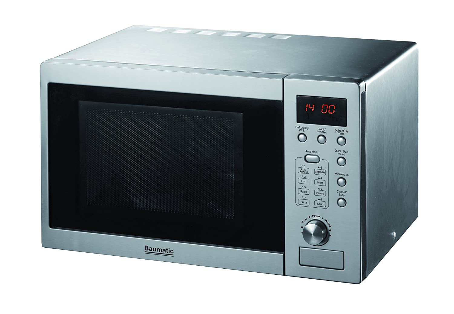 Baumatic Kitchen Appliances Baumatic Freestanding Stainless Steel Microwave Oven 20 Litre