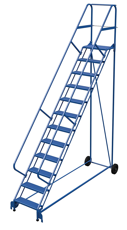 Vestil LAD-RAF-12-24-P-EZ - Escalera enrollable plegable (50 grados, perforada, 12 peldaños), color azul: Amazon.es: Amazon.es
