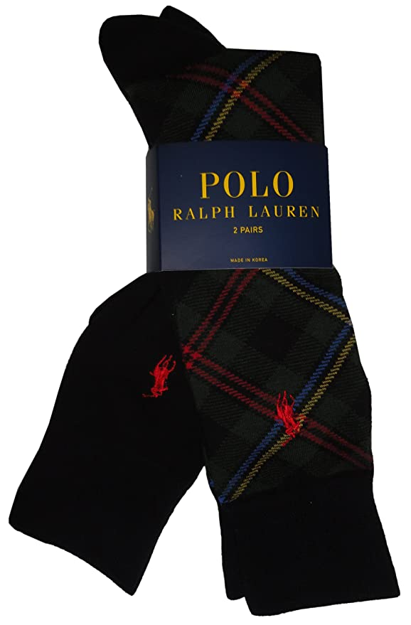 Ralph Lauren Polo hombre calcetines cuadros de color verde y negro ...