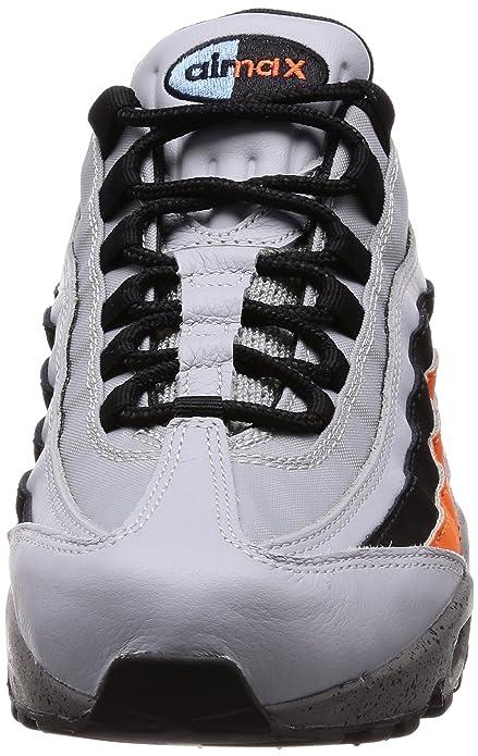 Mens Air Max 95 PRM Gymnastics Shoes, Grey (Wolf Grey/Solar Red/Aurora Grey 015), 6 UK Nike