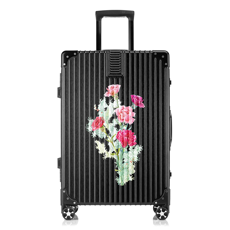 GSHCJ スーツケース 美しいライラックの花 キャリーケース 20インチ おしゃれ ブラック Tsaロック搭載 プリント ハード 超軽量 軽い 機内持込 ロックファスナー 旅行 ビジネス 出張 海外 修学旅行 丈夫 便利 レディース メンズ 学生 B07RZ5SQY5