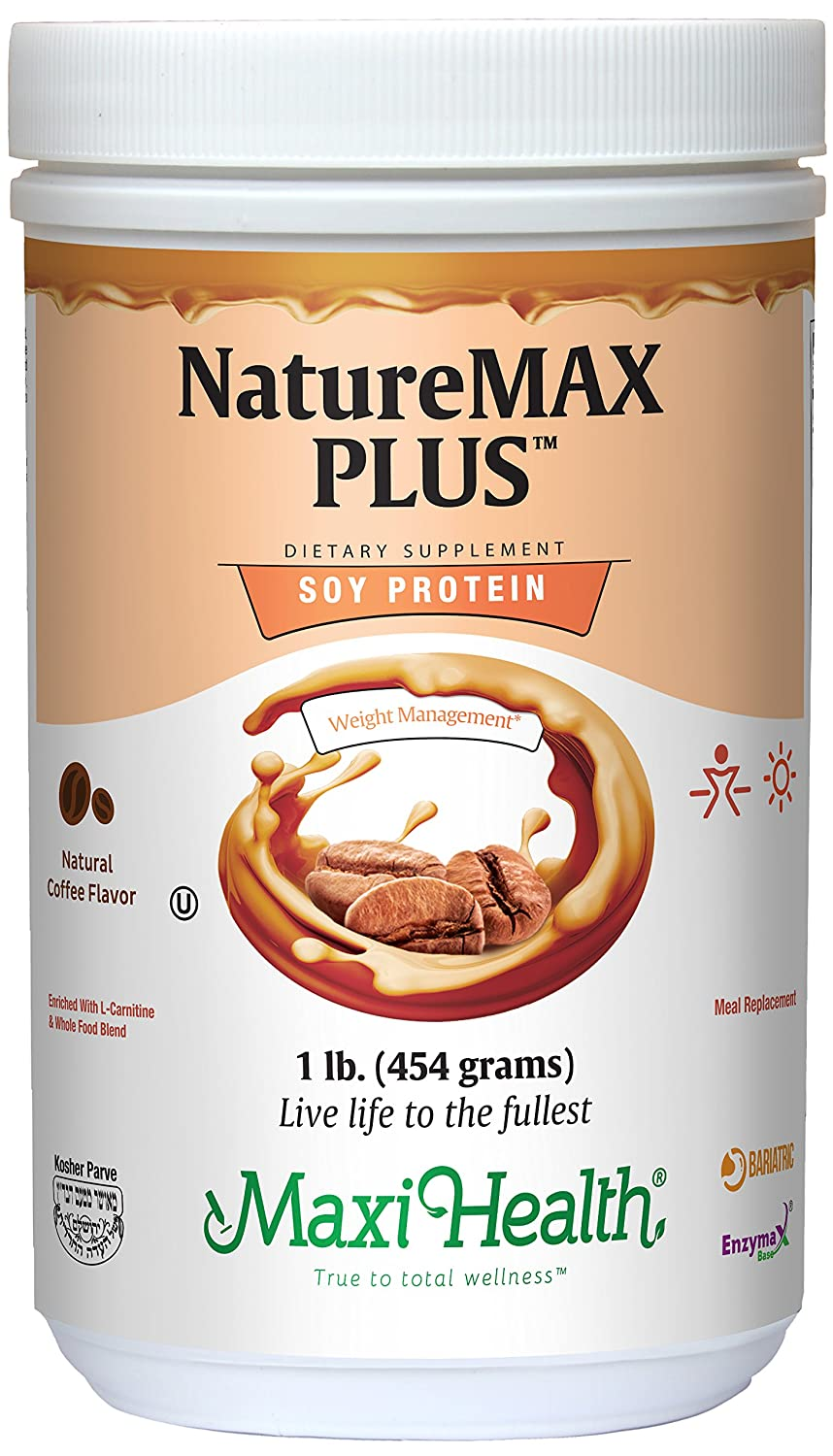 Amazon.com: Maxi Health Naturemax PLUS - Soy Protein - Chocolate - Diet & Energy Support - 1 lbs Powder - Kosher: Health & Personal Care