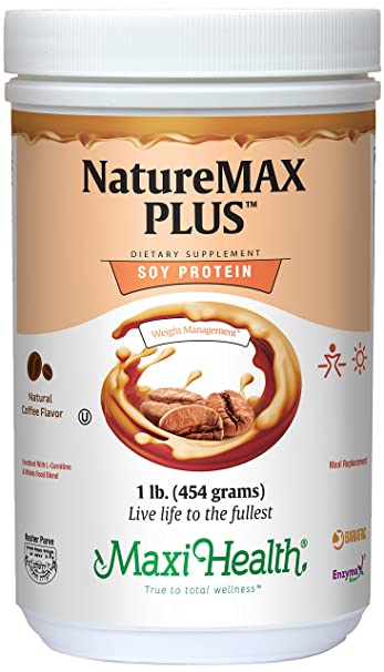 Maxi Health Naturemax PLUS - Soy Protein - Coffee - Diet & Energy Support - 1