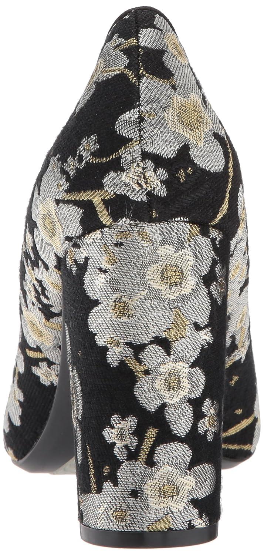Nine West Women's ASTORIA9X9 Fabric B0719JVP8R 10 B(M) US|Black Multi/Black Fabric