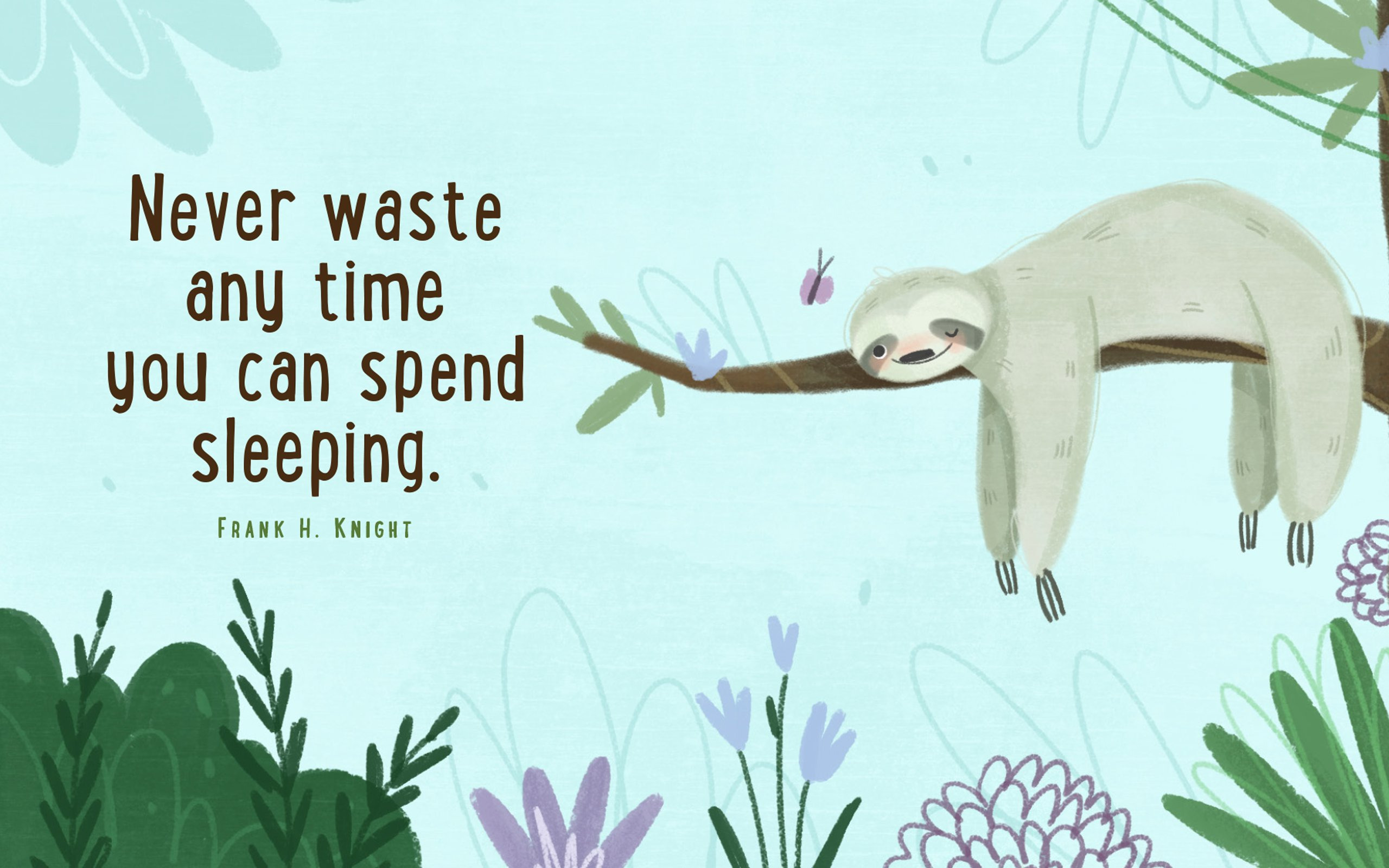 Sloth Wisdom (Mini Book) -