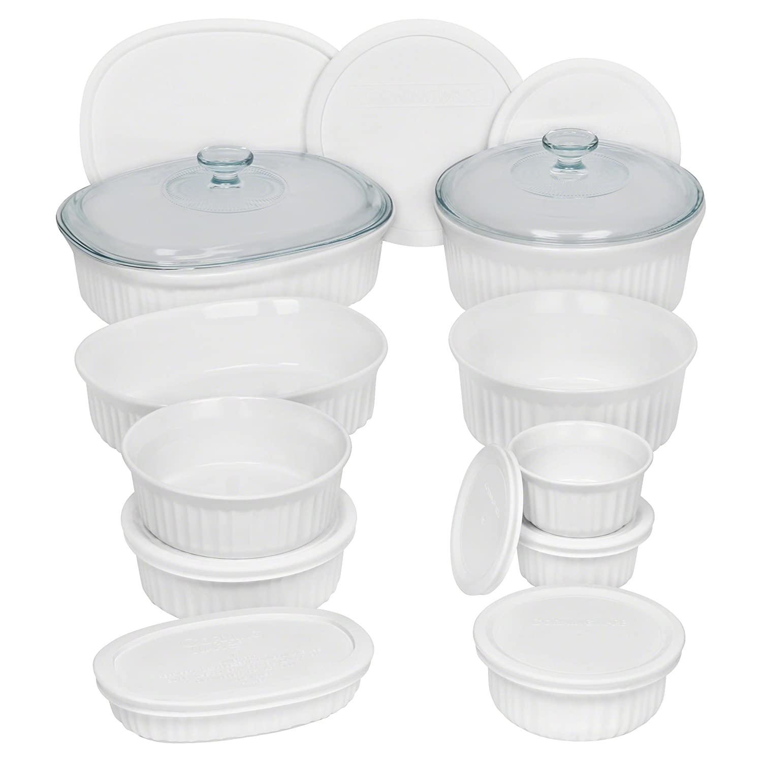 CorningWare 20 Piece French Server Set, White