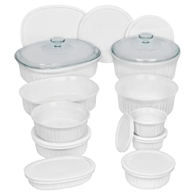 CorningWare French White Bakeware Set (20-Piece, White)