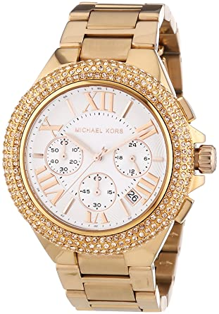 4acd2f32f9cd Amazon.com  Michael Kors MK5636 Women s Chronograph Camille Rose Gold-Tone  Stainless Steel Bracelet Watch  Michael Kors  Watches