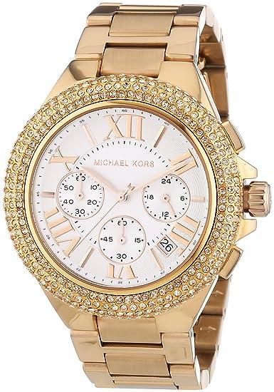 Michael Kors Reloj Cronógrafo para Mujer de Cuarzo con Correa en Acero Inoxidable MK5636: Amazon.es: Relojes