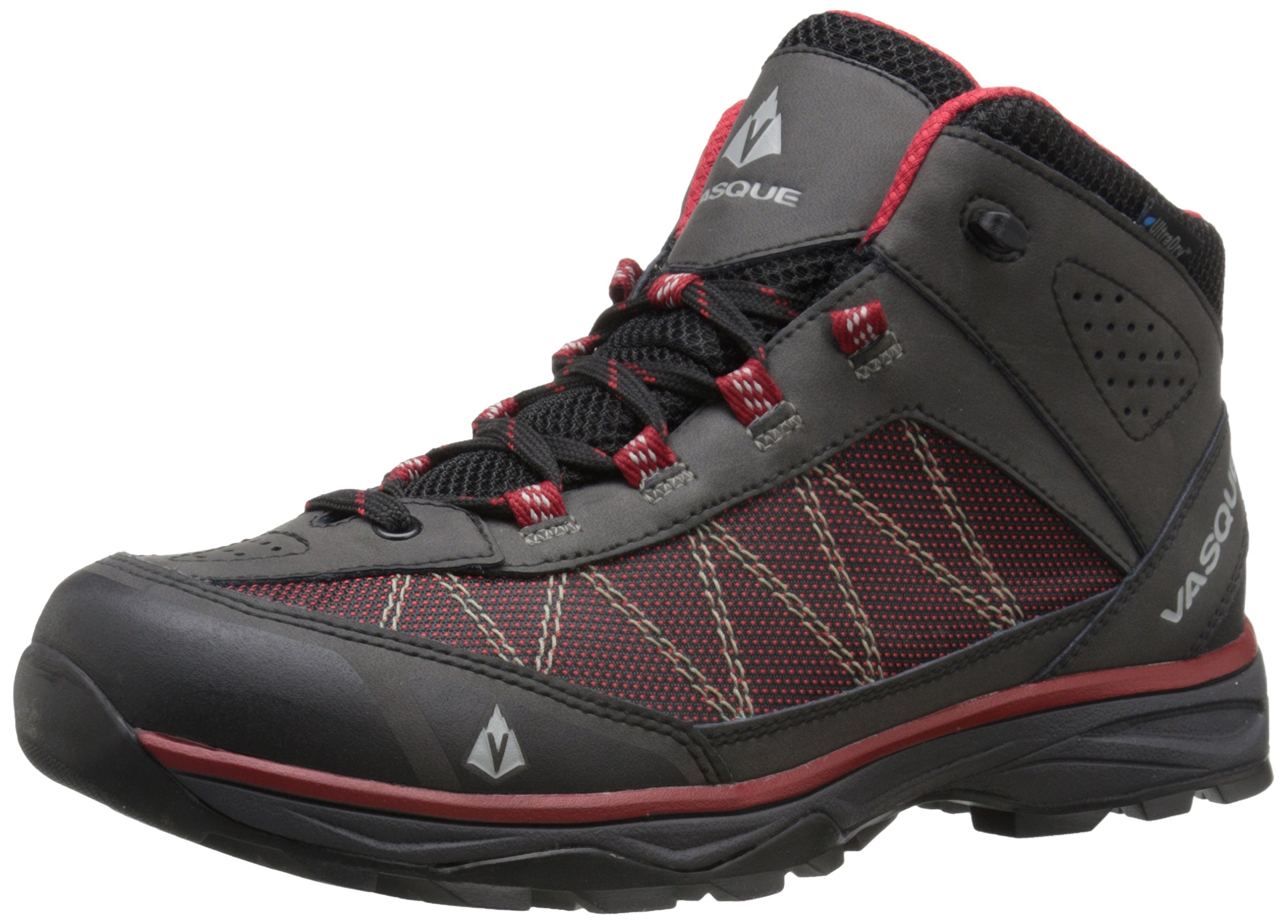 Vasque Men's Monolith Hiking Boot, Black/Chili Pepper, 10.5 W US