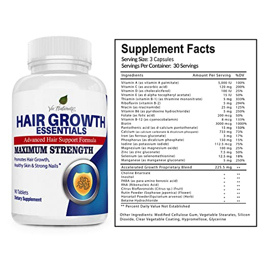 Amazon Com Hair Vitamins For Faster Hair Growth Advanced Hair