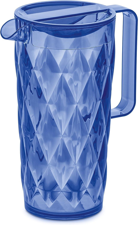 /Jarra de 1,6/L de pl/ástico Transparente 12/x 18/x 24,5/cm Gris Oscuro transl/úcido 12 x 18 x 24.5 cm Koziol/Crystal