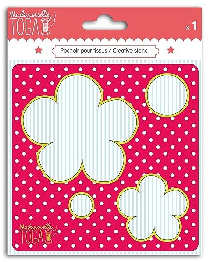 Mademoiselle Toga mero206 Plantilla Costura Design Flor cartón Gris 12,5 x 12,5