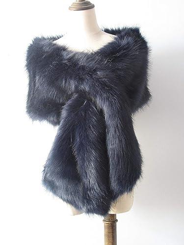 40728f8466cd9 Navy faux fur bridal wrap, light brown fur, Wedding Fur shrug, Fur ...