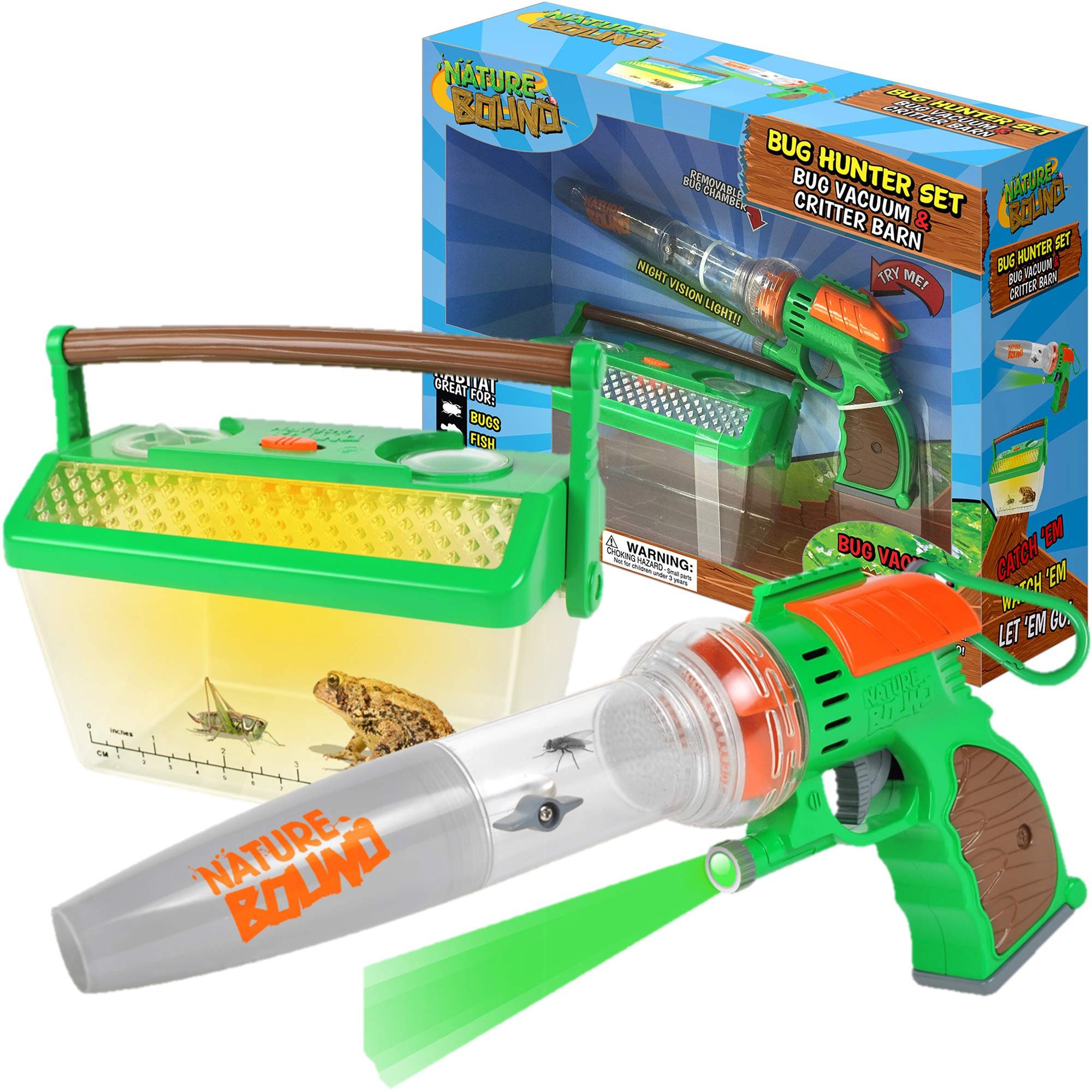Nature Bound Bug Catcher Vacuum with Light Up Critter Habitat Case for Backyard Exploration - Complete kit for Kids by Nature Bound