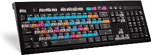 Logickeyboard Adobe Graphic Designer Astra Backlit US English Keyboard for Mac OS