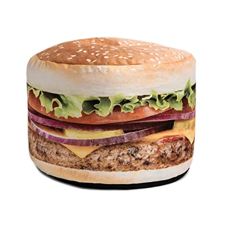 Brilliant Wow Works Hamburger Adult Beanbag Chair Gmtry Best Dining Table And Chair Ideas Images Gmtryco
