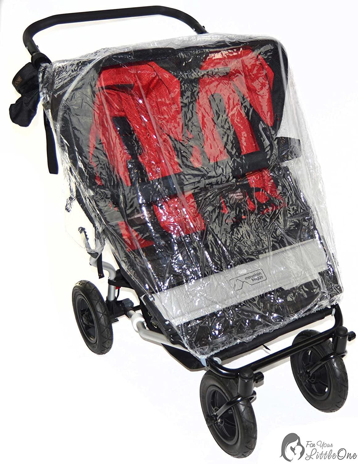 Protector de lluvia Compatible con Mountain Buggy Duet - Carrito doble (213): Amazon.es: Bebé