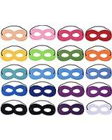 Blulu 20 Pieces Superhero Masks Eye Masks Felt Cosplay Masks Half Masks Party Masks with Elastic Rope for Party, Multicolor