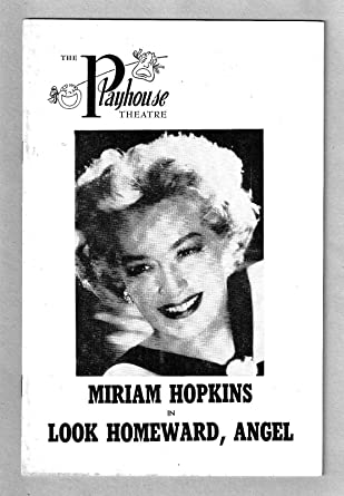Miriam Hopkins LOOK HOMEWARD ANGEL Andrew Prine 1959 Wilmington Delaware At Amazons Entertainment Collectibles Store