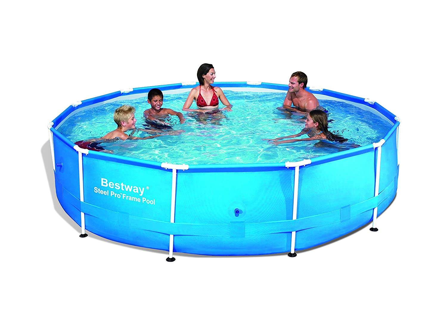 bestway steel pro frame swimming pool 12ft x 30inch brand new ebay. Black Bedroom Furniture Sets. Home Design Ideas