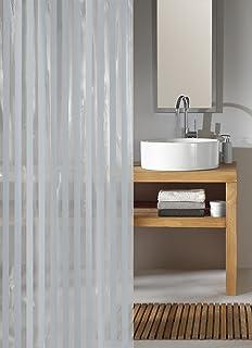 KW Noaa Shower Curtain Silver Grey 180 X 200cm