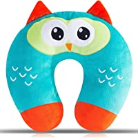 Kids Travel Pillow, Ultra Soft Kids Neck Pillow, Cute Airplane Pillow for Babies, Toddlers & Kids Neck Support on…