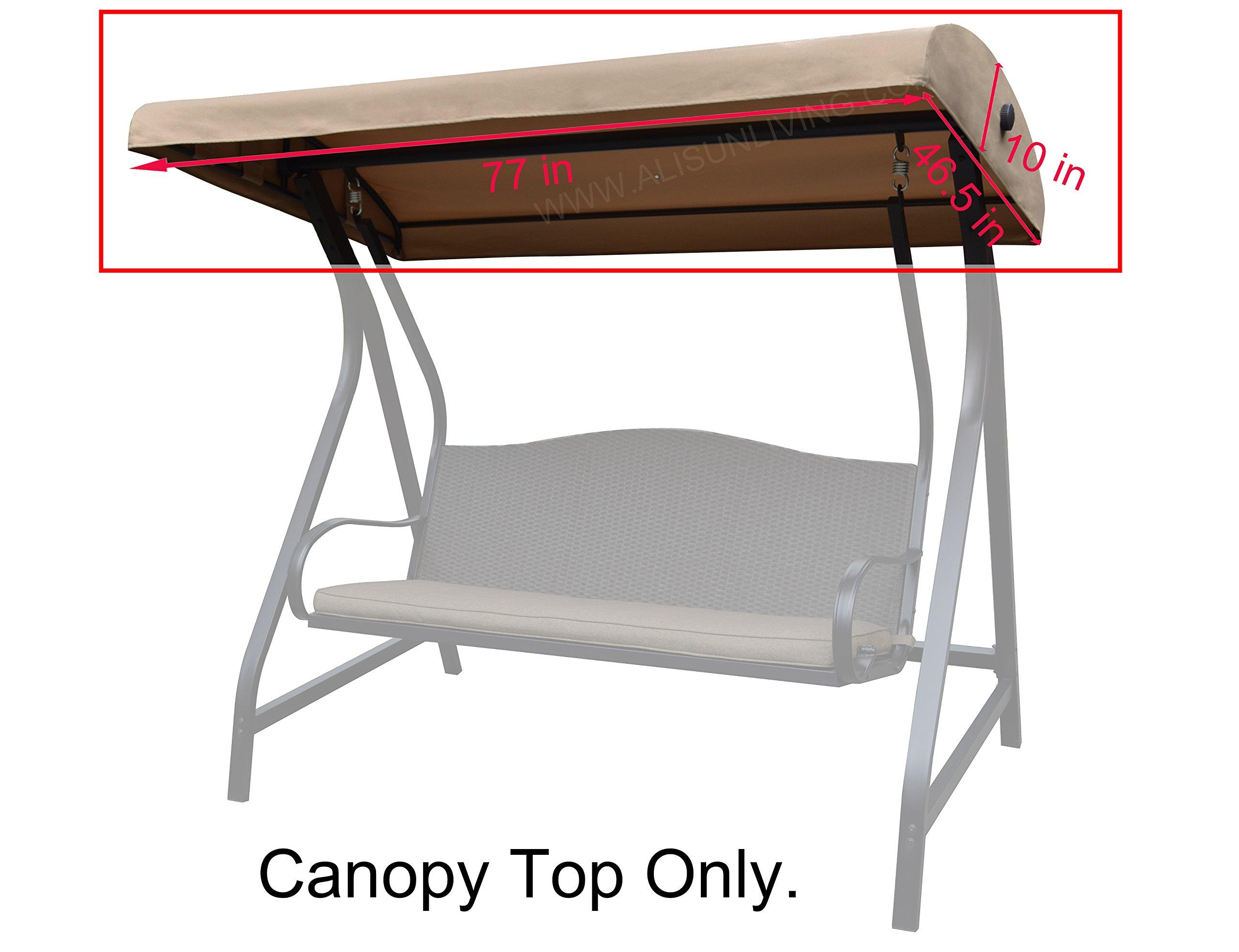 ALISUN Replacement Canopy Top for Lowe's Garden Treasures Porch Swing Model #GCS00229C