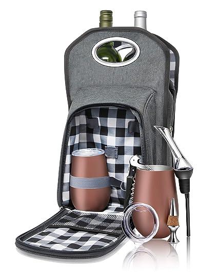 Amazon.com: 6 bolsitas de vino picnic Juego de viaje: bolsa ...