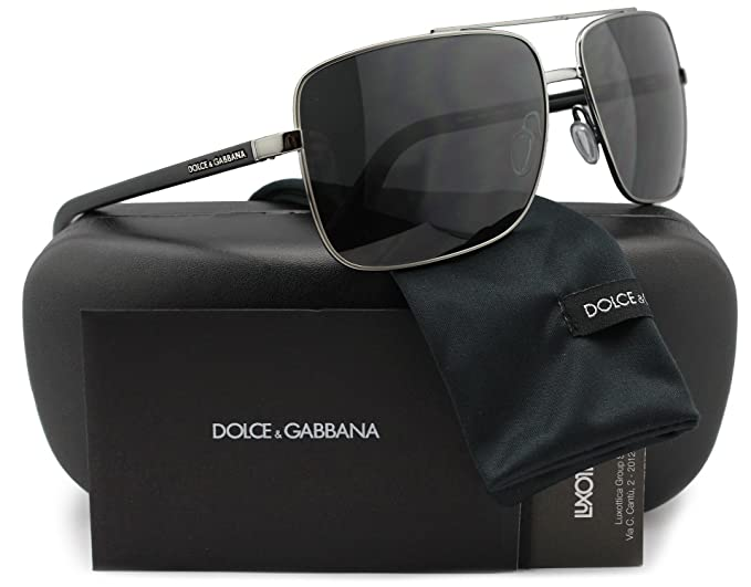 0f6aa81cbc7 Image Unavailable. Image not available for. Colour  Dolce   Gabbana DG2142  Rubber Evolution Man Sunglasses Gunmetal w Crystal Grey (04