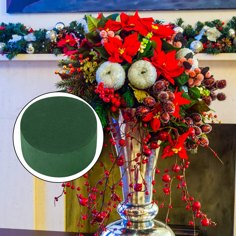 Party Decoration Cone Foam, 3 Pieces DIY Flower Arrangement Kit Green Round Wet Floral Foam Wedding Aisle Flowers