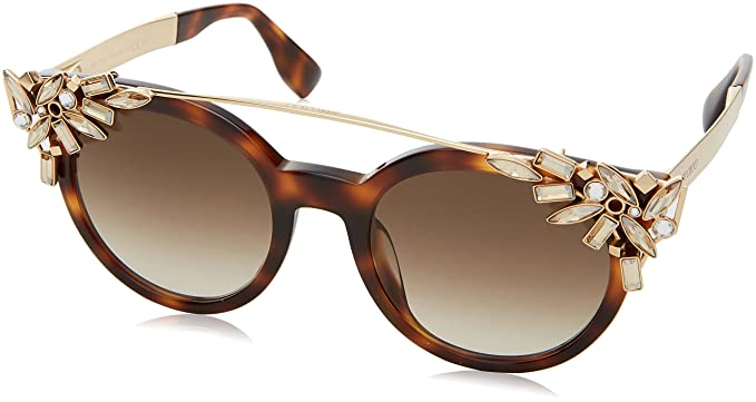 bb6422d1abd Image Unavailable. Image not available for. Color  Jimmy Choo Vivy S  Sunglasses-0BHZ Havana Rose Gold ...