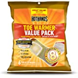HotHands Toe Warmers - Long Lasting Safe Natural Odorless Air Activated Warmers - Up to 8 Hours of Heat - 6 Pair