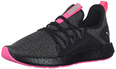 39a1f01ba9d0 PUMA Unisex NRGY Neko Knit Kids Sneaker Black-Knockout Pink