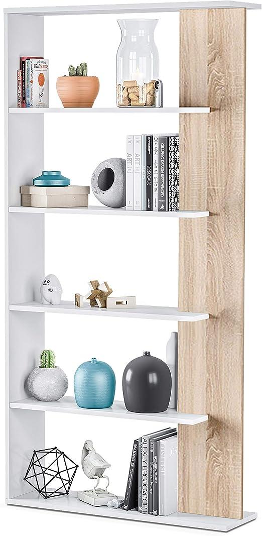 Habitdesign Estantería 5 baldas, Librería Comedor, Salon ...