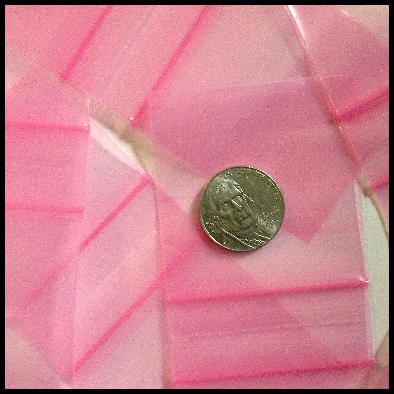 2020 高品質 アップル ミニ ジップロック バギー 赤、オレンジ、ピンクのデザイン 100袋 2インチ x 2インチ Pack of 100 B07DX6RH95